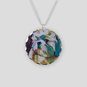 Shih Tzu - Grady Necklace Circle Charm