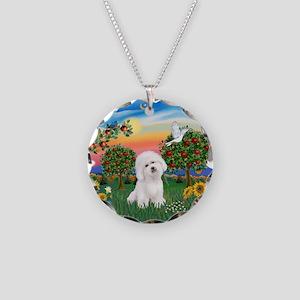 BrightCountry-Bichon#1 Necklace Circle Charm