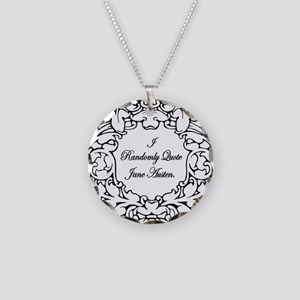 Jane Austen and Darcy designs Necklace Circle Char