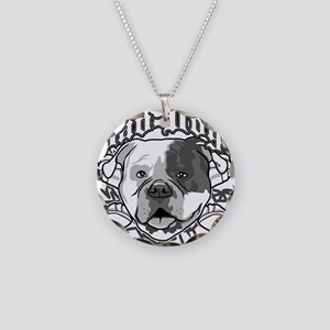 AMERICAN BULLDOG Necklace Circle Charm