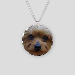 YorkieShowerC Necklace Circle Charm