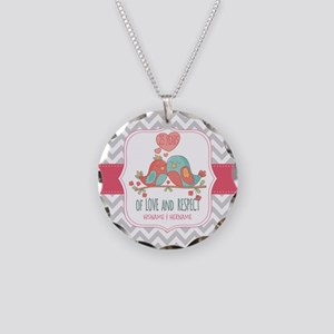 Create Personalized Annivers Necklace Circle Charm