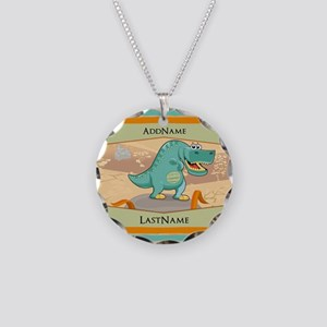 Dinosaur Personalized for Ki Necklace Circle Charm
