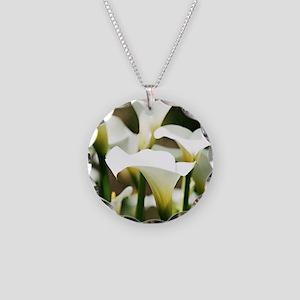 White Calla Lilies Necklace