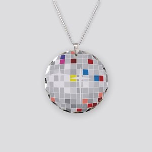 disco ball Necklace Circle Charm