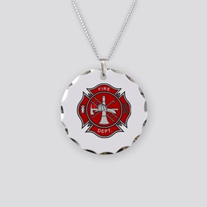Fire Dept. Necklace Circle Charm