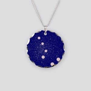 The Big Dipper Constellation Necklace Circle Charm