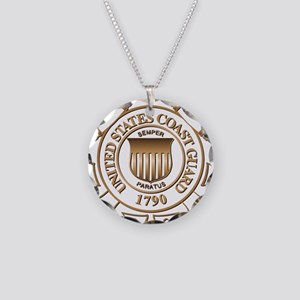 USCG Necklace Circle Charm