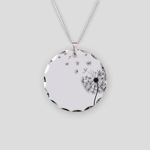 Dandelion Necklace Circle Charm