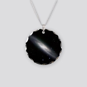 Spiral galaxy NGC 253 - Necklace Circle Charm