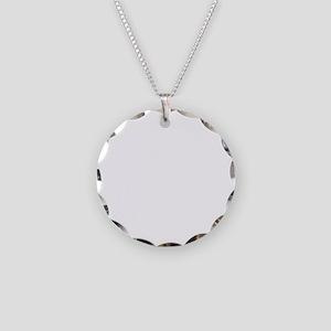 blue stripes Necklace Circle Charm