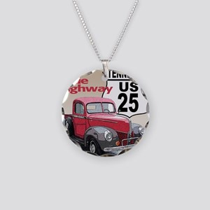 25-TN-40FordTk-10 Necklace Circle Charm