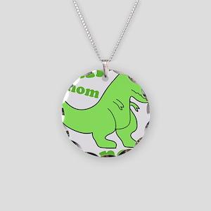 dinosaur-green-om-nom Necklace Circle Charm