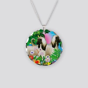 afghanhound3 copy Necklace Circle Charm