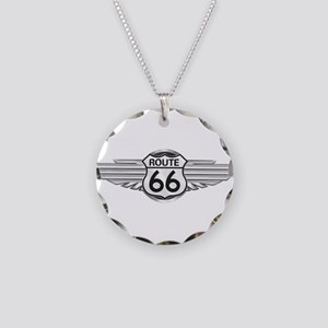Route 66 Necklace Circle Charm