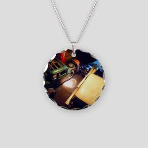 barn-find vertical calendar- Necklace Circle Charm