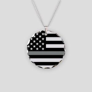 U.S. Flag: Black Flag & The Necklace Circle Charm