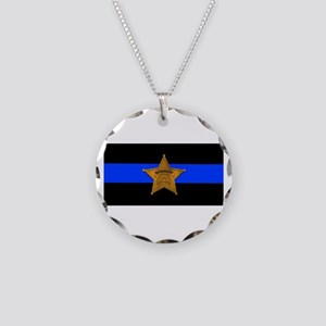 Sheriff Thin Blue Line Necklace