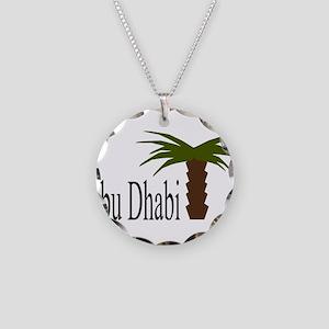 I love Abu Dhabi, amazing ci Necklace Circle Charm