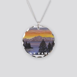 Mt. Tallac Lake Tahoe Necklace Circle Charm