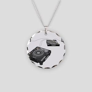 My CDJ Setup Necklace Circle Charm