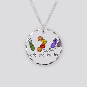 bacteria friends LT Necklace Circle Charm