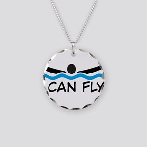 I can fly Necklace Circle Charm
