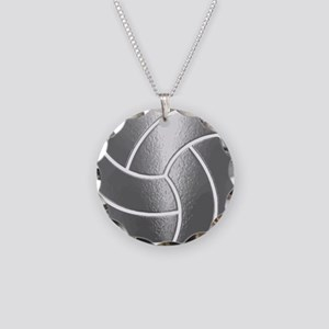 Silver Volleyball Classic Necklace