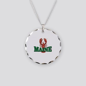 green maine lobster Necklace Circle Charm