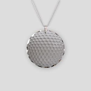 Golf Ball Sport Necklace Circle Charm