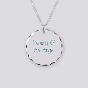 Mommy of an Angel Necklace Circle Charm