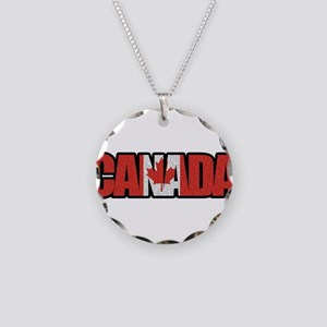 Canada Word Necklace Circle Charm