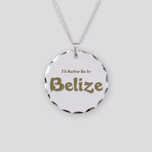 Id Rather Be...Belize Necklace Circle Charm