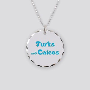Turks and Caicos Necklace Circle Charm