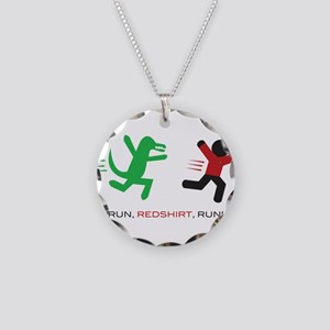 Run, Redshirt, Run! Necklace Circle Charm