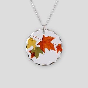 Autumn Colors Necklace Circle Charm