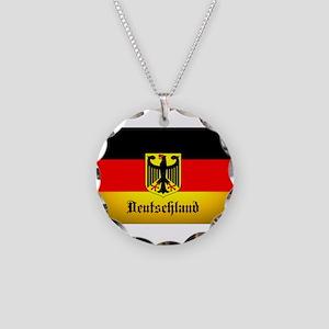 Deutschland Flag Coat of Arms Necklace