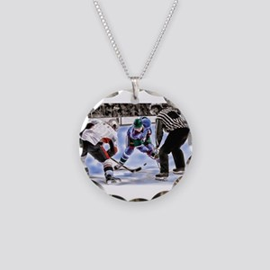 Hocky Players and Referee at Necklace Circle Charm