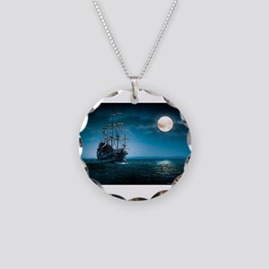 Moonlight Pirates Necklace Circle Charm