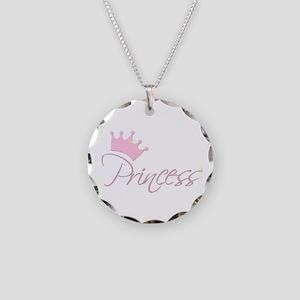 Princess Necklace Circle Charm