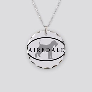 Airedale Terrier Oval #3 Necklace Circle Charm