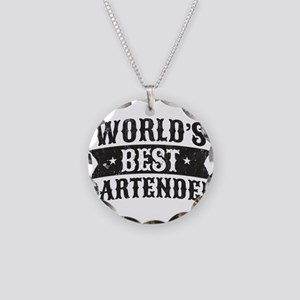 World's Best Bartender Necklace Circle Charm