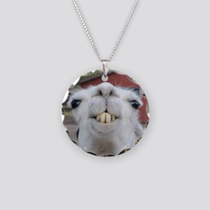 Funny Alpaca Llama Necklace Circle Charm