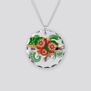 Dominica Flag Necklace Circle Charm