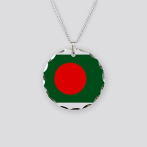 Bangladesh Flag Necklace Circle Charm