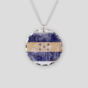 Honduras Flag Necklace Circle Charm