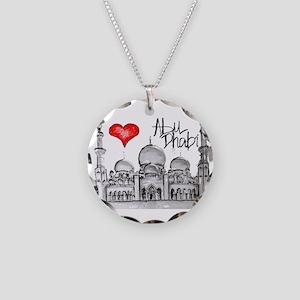 I love Abu Dhabi Necklace Circle Charm