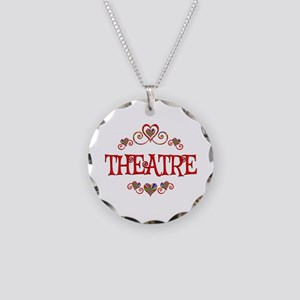 Theatre Hearts Necklace Circle Charm