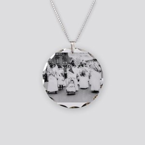 Suffragettes Necklace Circle Charm