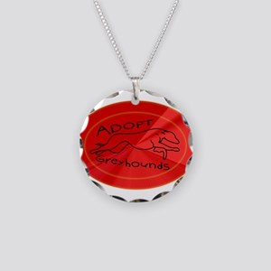 Even More Greyhounds! Necklace Circle Charm
